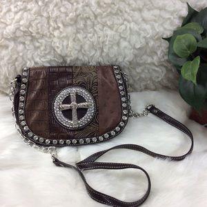 Silverake Leather Crossbody Purse